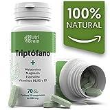 Natural Triptófano con Melatonina y Espirulina | 70 Comprimidos | Fórmula natural para mejorar el sueño, reducir la ansiedad, aumentar la energía, la concentración y el bienes