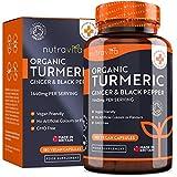 Crcuma Orgnica de 1440 mg con Pimienta Negra y Jengibre -180 Cpsulas Vegano de Alta Resistencia (Suministro para 3 Meses) - Fabricado en el Reino Unido por Nutrav