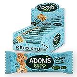 Adonis Low Sugar Nut Bar - Barritas de Coco Crujiente Sabor a Vainillia | 100% Natural, Baja en Carbohidratos, Sin Gluten, Vegano, Paleo, Keto (16)