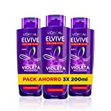 L'Oreal Paris Elvive Color Vive Champ Violeta Matizador - pack de 3 unidades x 200 ml - total: 600 m