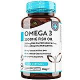 Omega 3 (2000 mg) - 660 mg de EPA y 440 mg de DHA - Omega 3 Capsulas de Gel Suave de Aceite de Pescado Puro - Hecho en el Reino Unido por Nutrav