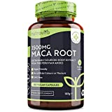 Maca Negra Andina Capsulas 3500 mg - 180 Cápsulas Veganas con Maca negra de Alta Potencia - Suministro para 6 Meses - Producto elaborado en el Reino Unido por Nutrav