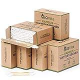 1200 bastoncillos de bambú (6 x 200 unidades), 100 % libre de plástico, biodegradables, veganos y sostenibles, prod